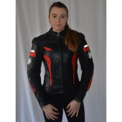 BLOUSON RACING MOTO POUR FEMME EN CUIR